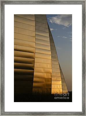 Ribbons Of Gold Framed Print by Dennis Hedberg