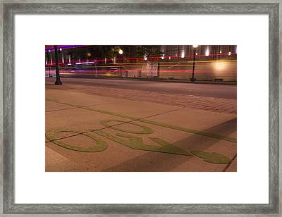 Ribbons Of Light Framed Print by Lisa Marie Pane