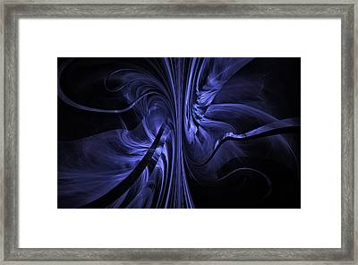 Framed Print featuring the digital art Ribbons Of Time by GJ Blackman