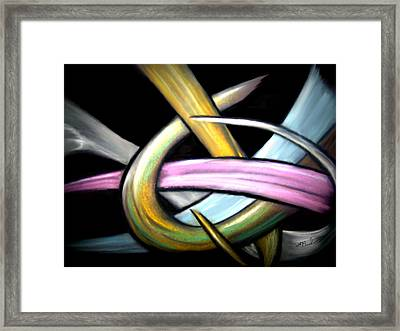 Ribbons Framed Print by William  Paul Marlette