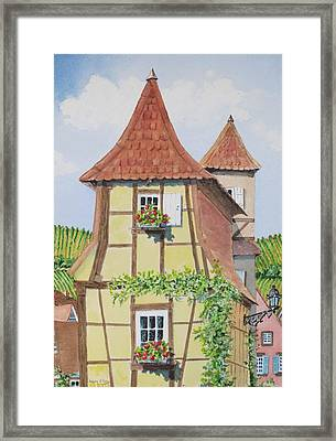 Ribeauville Village In Alsace  Framed Print by Mary Ellen Mueller Legault