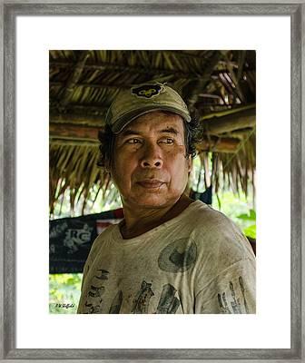 Ribereno - Man Of The Amazon Framed Print