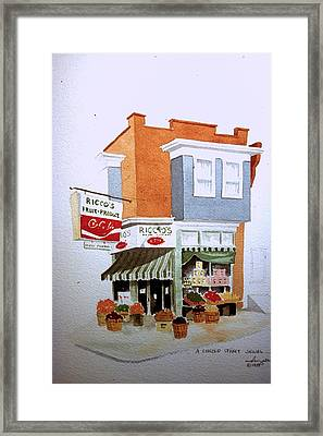 Ricco's Framed Print