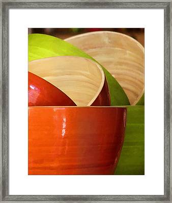 Framed Print featuring the photograph Rice Bowl Stack by Kim Andelkovic