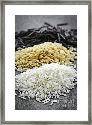 Rice Framed Print