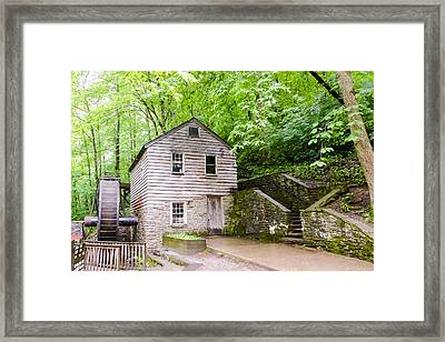 Rice Grist Mill Norris Dam State Park Tennessee Framed Print by Cynthia Woods