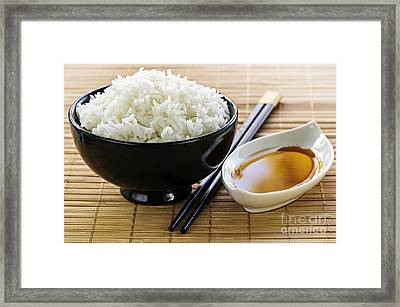 Rice Meal Framed Print