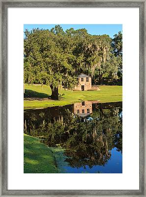 Rice Mill  Pond Reflection Framed Print by Patricia Schaefer