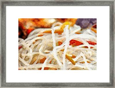 Rice Noodles Painting Framed Print