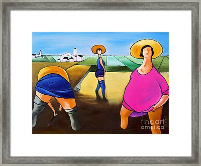 Rice Pullers Framed Print