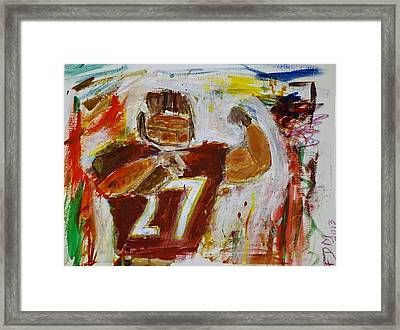 Rice Touchdown Framed Print