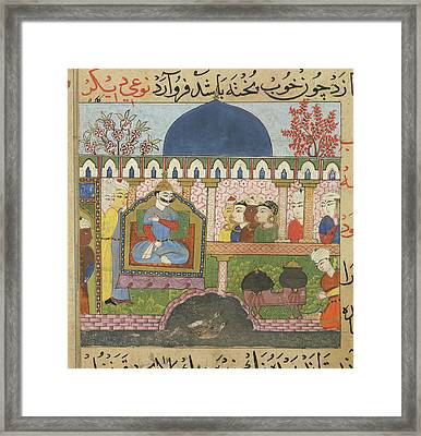 Rice Water Being Prepared Framed Print by British Library
