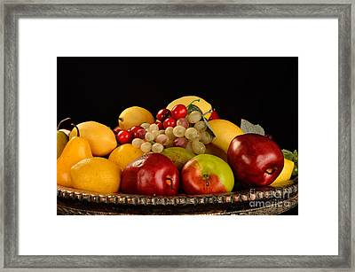 Rich Bowl Of Fruit Framed Print by Timothy OLeary