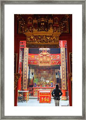Rich Decoration In Chinese Temple - Sze Yah Temple - Kuala Lumpur - Malaysia Framed Print by David Hill