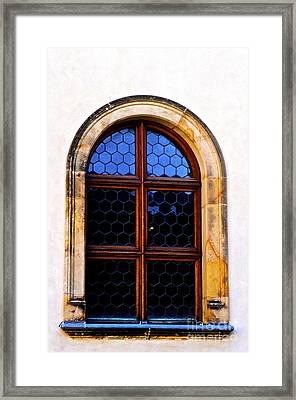 Neon Window Framed Print