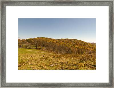 Rich Mountain Autumn Framed Print