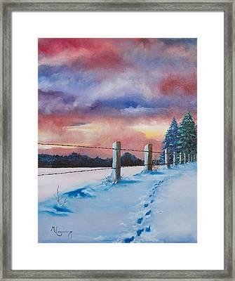 Rich Wintertide Framed Print