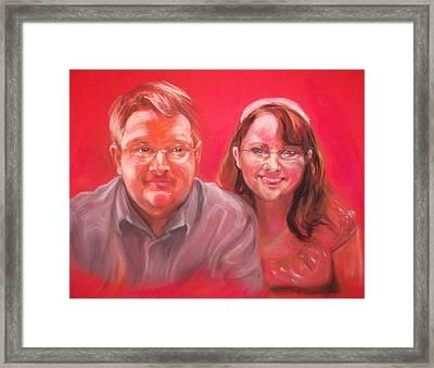 Richard And Lori Framed Print by Martha Suhocke