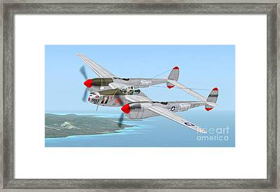Richard Bong's P-38 Lightning Marge Framed Print