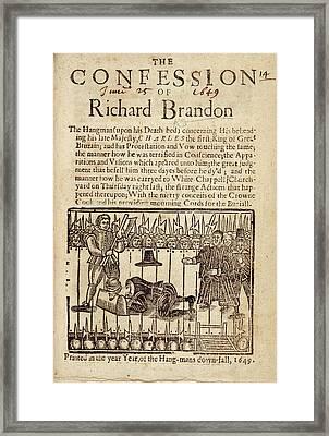Richard Brandon Framed Print