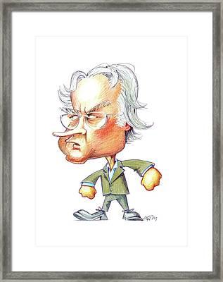 Richard Dawkins Framed Print by Gary Brown