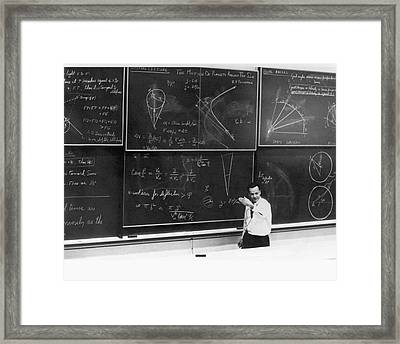 Richard Feynman Framed Print by Us Department Of Energy