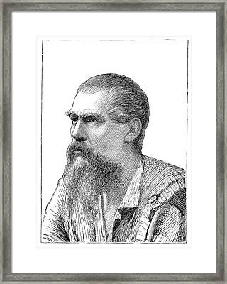 Richard Francis Burton, British Explorer Framed Print