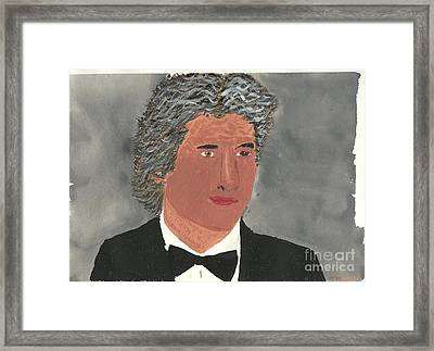 Richard Gere Framed Print by Tracey Williams