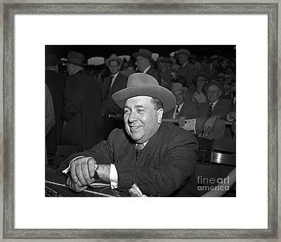 Framed Print featuring the photograph Richard J. Daley 1955 by Martin Konopacki Restoration