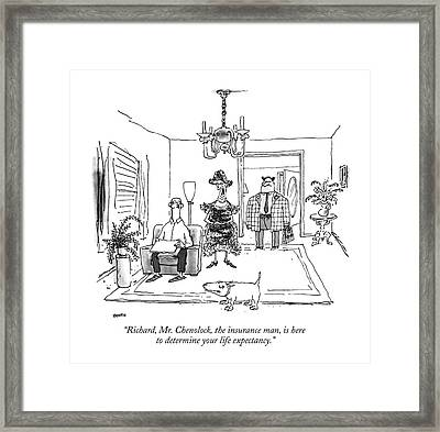 Richard, Mr. Chenolock, The Insurance Man Framed Print by George Booth
