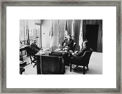 Richard Nixon And Henry Kissinger Framed Print by Everett