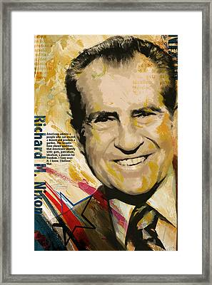 Richard Nixon Framed Print by Corporate Art Task Force