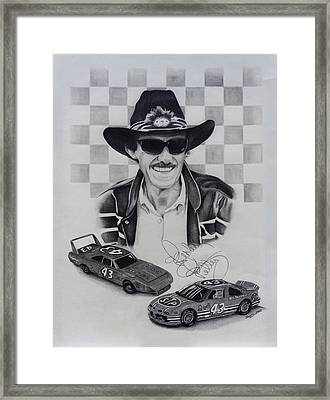 Richard Petty Framed Print by Billy Burdette