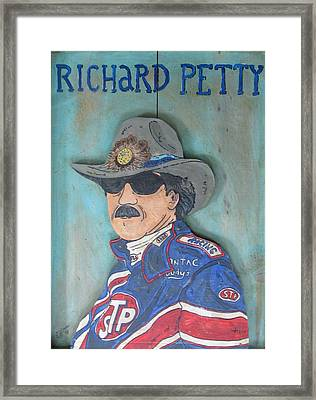 Richard Petty Framed Print by Eric Cunningham