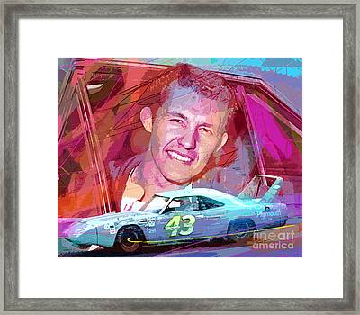Richard Petty Superbird Framed Print by David Lloyd Glover