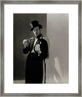 Richard Pitchford Doing A Card Trick Framed Print