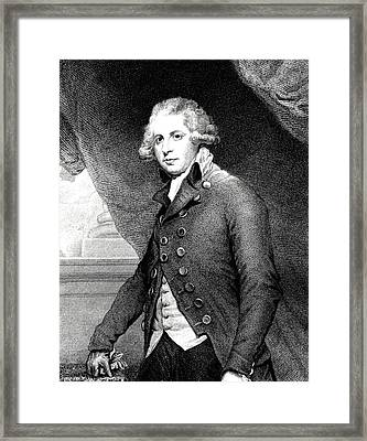 Richard Sheridan Framed Print by Collection Abecasis