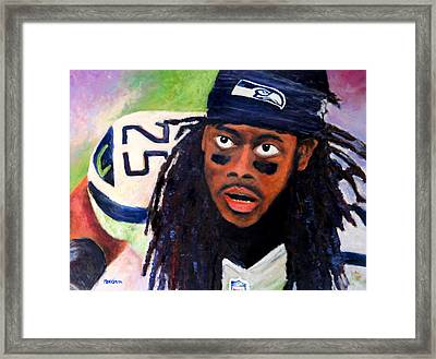 Richard Sherman Framed Print by Marti Green