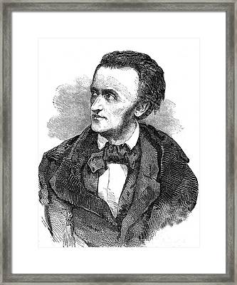 Richard Wagner Framed Print by Collection Abecasis