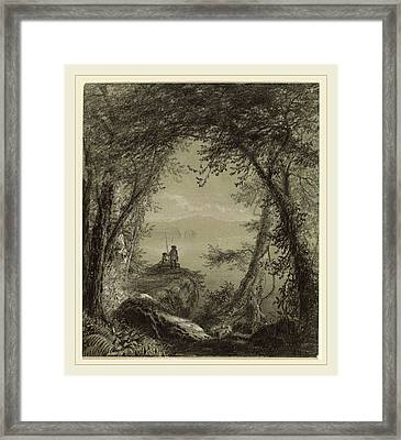 Richard William Hubbard, Lake George, American Framed Print by Litz Collection