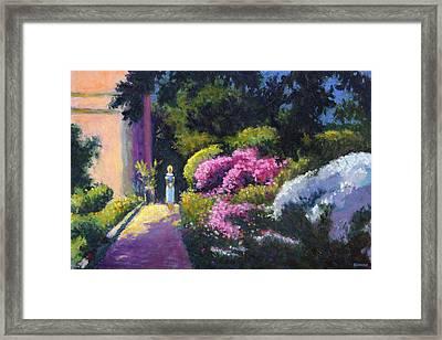 Richards Dar House Garden Light Framed Print by Vernon Reinike