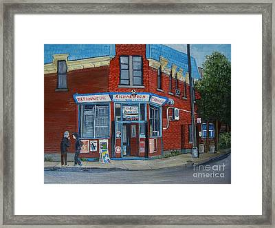 Richardson Depanneur Pointe St. Charles Framed Print by Reb Frost