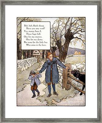 Richardson: Mother Goose Framed Print