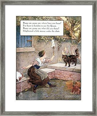 Richardson: Pussy Cat Framed Print