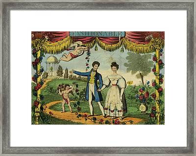 Richardsons New Fashionable Ladys Valentine Writer Framed Print by Litz Collection