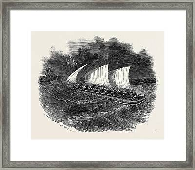 Richardsons Patent Tubular Lifeboat Framed Print by English School