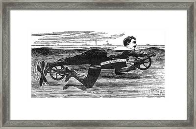 Richardsons Swimming Device 1880 Framed Print