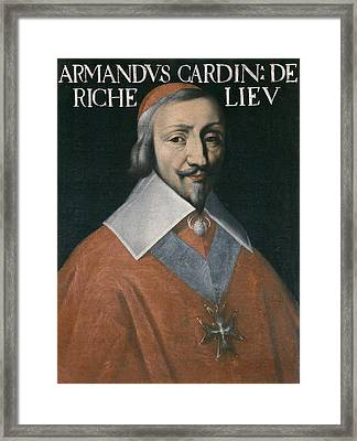 Richelieu, Armand-jean Du Plessis Framed Print by Everett