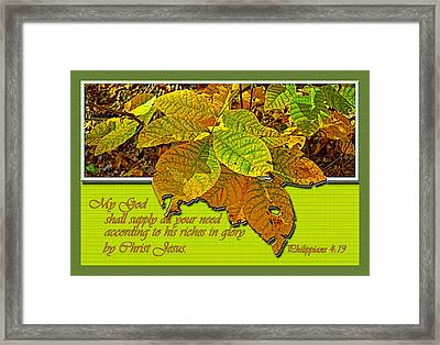Riches Framed Print by Larry Bishop