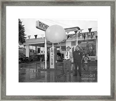 Richfield Station Opening  Framed Print by Merle Junk